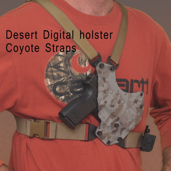Chest holster, OutDoorsman,desert digital, kydex