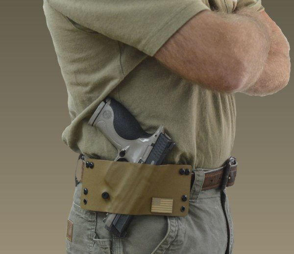 Pancake Holster, slim profile, coyote brown,