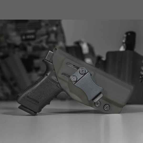 IWB holster shown in black, Concealed Carry Holster