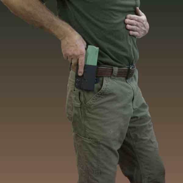 OWB holster, black, molle holster,