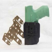 Molle holster and belt attachment shown for OWB holster.