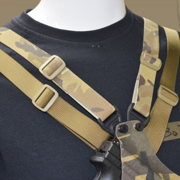 Chest holster, Camoflauge, Straps, Coyote Brown