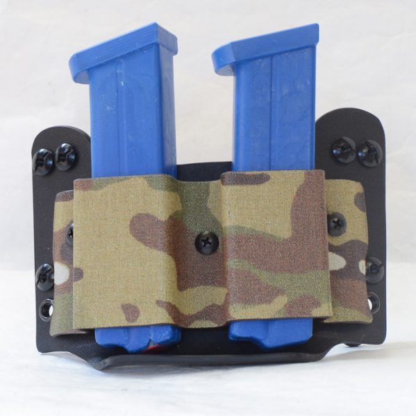 Tactical Mag Pouch shown in black and camo.