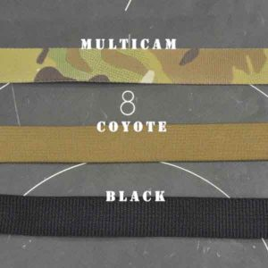 Three different colors shown for extra chest holster strap sets.