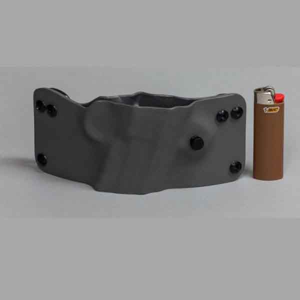 2aholster slim profile pancake shown in gray.