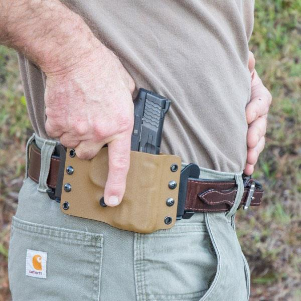 Pancake holster, The Liberator, Coyote Brown