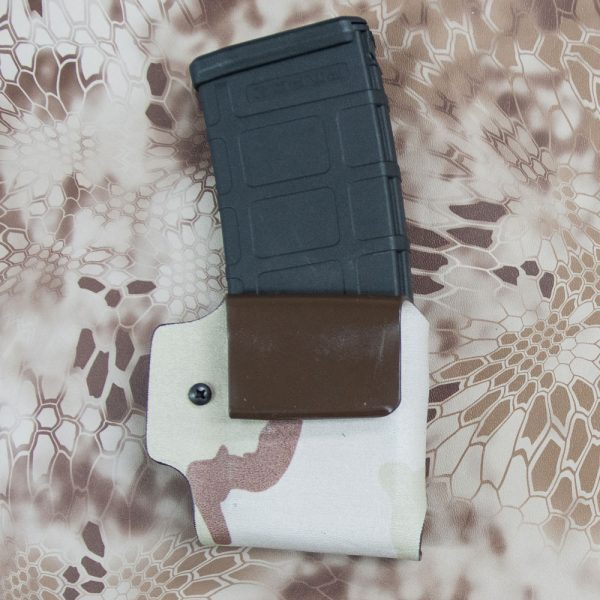 Back of AR mag pouch with mag inserted.